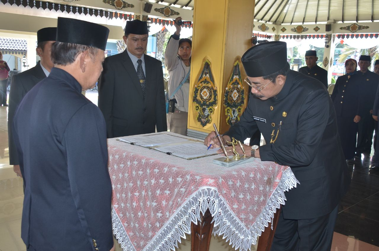Pelantikan Sekretaris Daerah Kabupaten Magetan. Foto: Bagian Humas dan Protokol Setdakab. Magetan